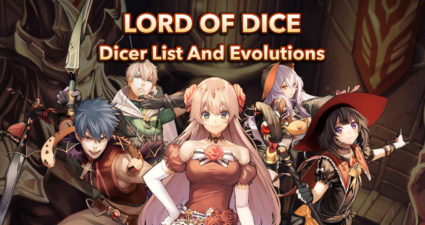 lord of dice - dicer list and evolution